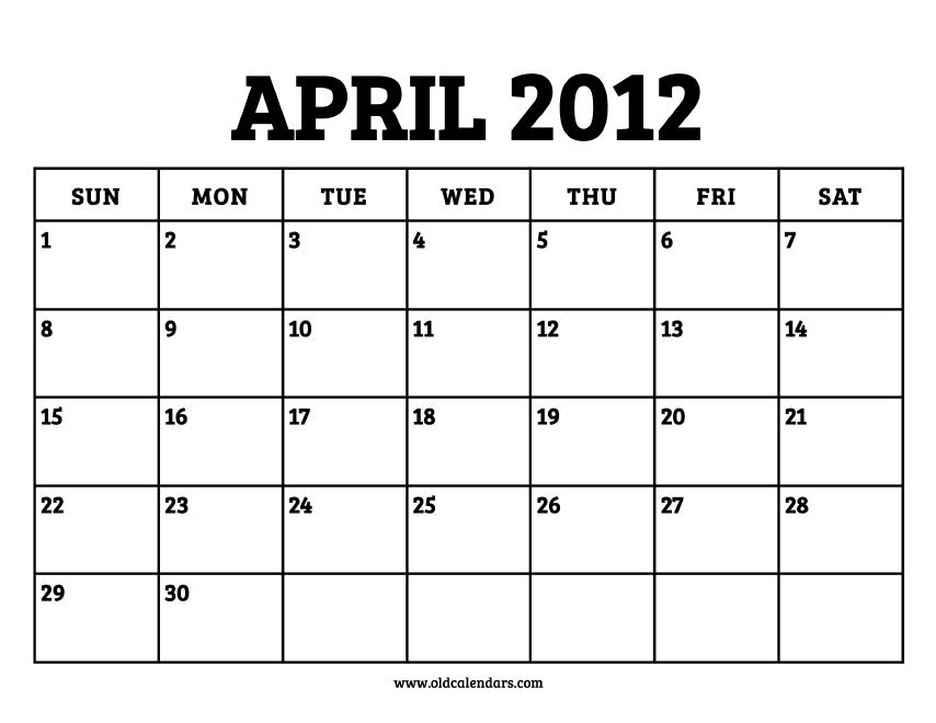 April 2012   Cosmics