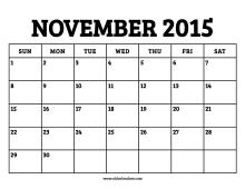 November Calendar Template 2015 from oldcalendars.com